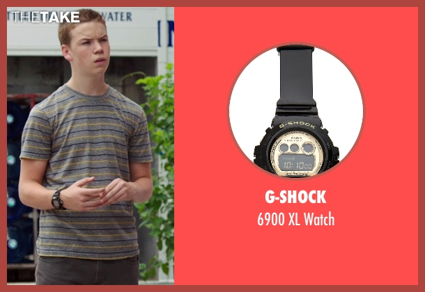 G-Shock black watch from We're the Millers seen with Will Poulter (Kenny Rossmore)