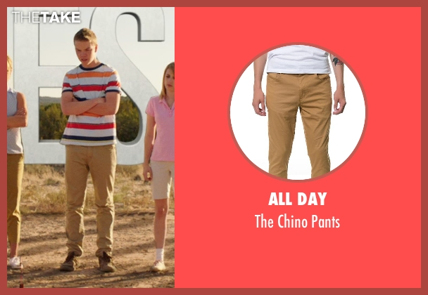 All Day brown pants from We're the Millers seen with Will Poulter (Kenny Rossmore)
