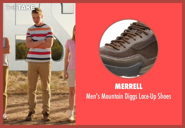 Merrell brown shoes from We're the Millers seen with Will Poulter (Kenny Rossmore)