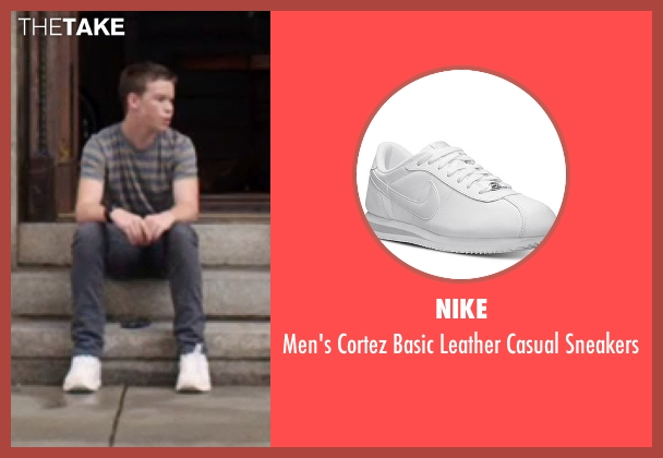 Nike white sneakers from We're the Millers seen with Will Poulter (Kenny Rossmore)