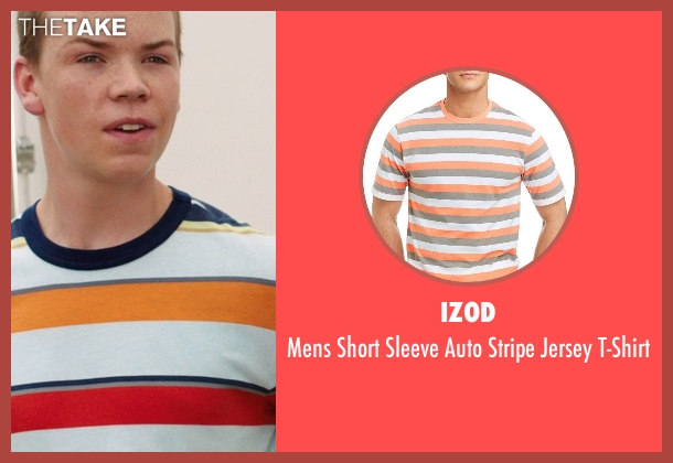 Izod white t-shirt from We're the Millers seen with Will Poulter (Kenny Rossmore)