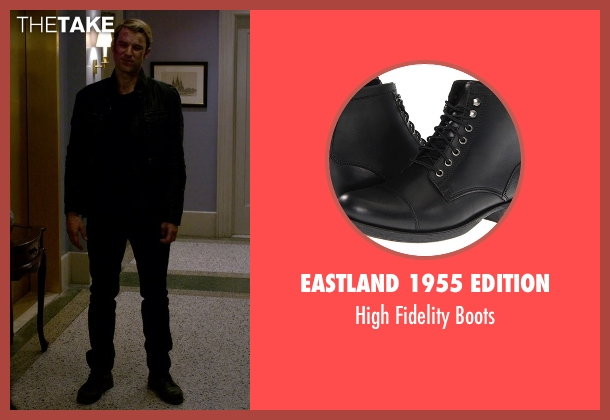 Eastland 1955 Edition black boots from Jessica Jones seen with Will Simpson  (Wil Traval)