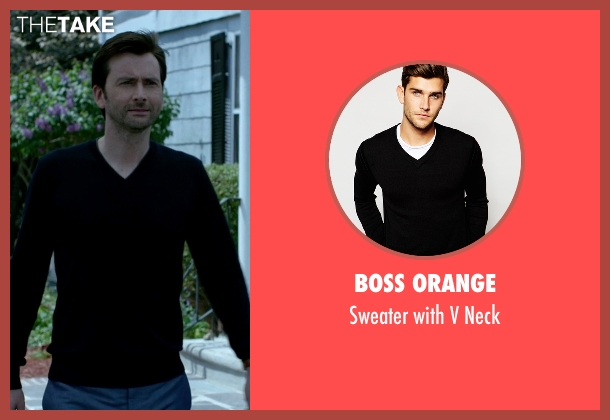 Boss Orange black neck from Jessica Jones seen with Will Simpson  (Wil Traval)