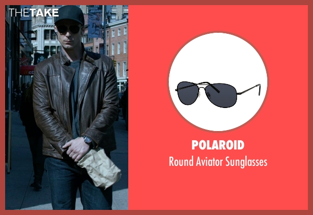 Polaroid black sunglasses from Jessica Jones seen with Will Simpson  (Wil Traval)