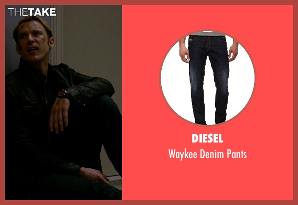 Diesel blue pants from Jessica Jones seen with Will Simpson  (Wil Traval)