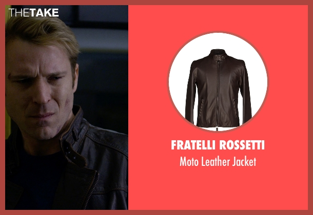 Fratelli Rossetti brown jacket from Jessica Jones seen with Will Simpson  (Wil Traval)