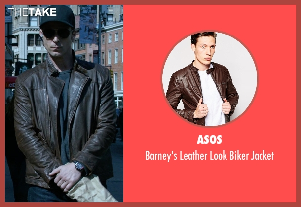 Asos brown jacket from Jessica Jones seen with Will Simpson  (Wil Traval)