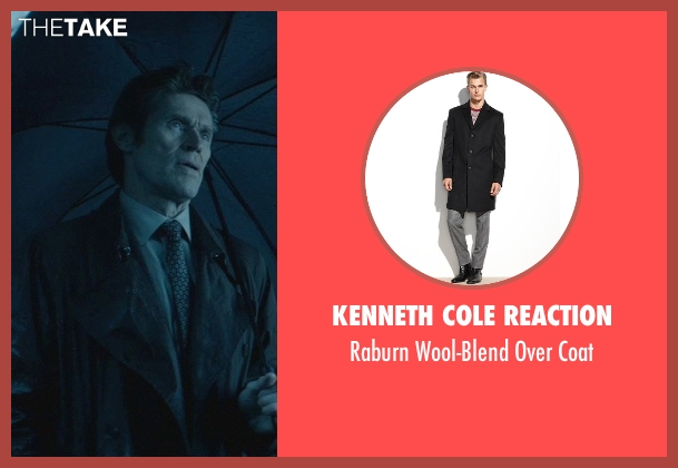 Kenneth Cole Reaction black coat from John Wick seen with Willem Dafoe (Marcus)