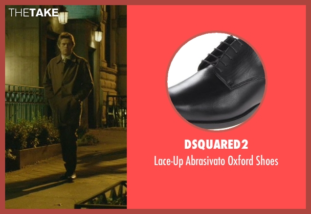 Dsquared2 black shoes from John Wick seen with Willem Dafoe (Marcus)
