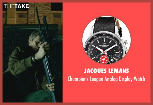 Jacques Lemans black watch from John Wick seen with Willem Dafoe (Marcus)