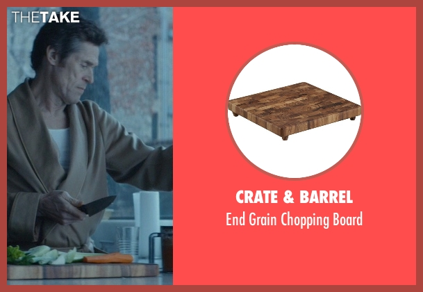 Crate & Barrel board from John Wick seen with Willem Dafoe (Marcus)