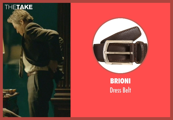 Brioni brown belt from John Wick seen with Willem Dafoe (Marcus)
