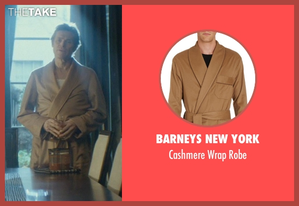 Barneys New York brown robe from John Wick seen with Willem Dafoe (Marcus)