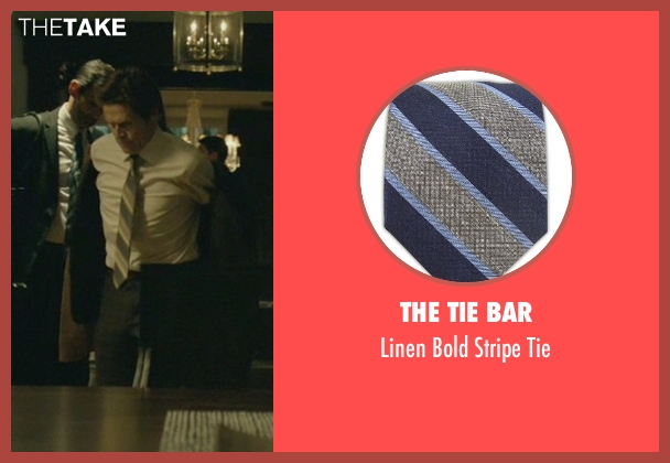 The Tie Bar gray tie from John Wick seen with Willem Dafoe (Marcus)