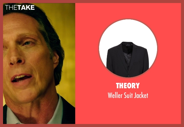 Theory black jacket from Teenage Mutant Ninja Turtles (2014) seen with William Fichtner (The Shredder)