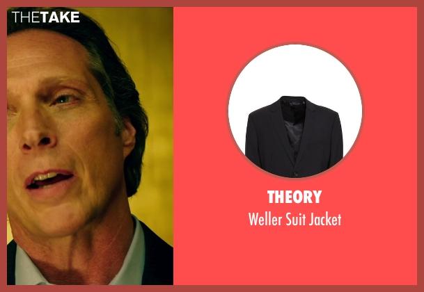 Theory black jacket from Teenage Mutant Ninja Turtles (2014) seen with William Fichtner (The Shredder)