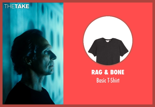 Rag & Bone black t-shirt from Teenage Mutant Ninja Turtles (2014) seen with William Fichtner (The Shredder)