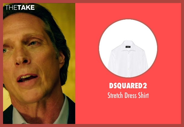 Dsquared2 white shirt from Teenage Mutant Ninja Turtles (2014) seen with William Fichtner (The Shredder)