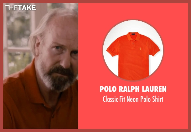 Polo Ralph Lauren orange shirt from The Disappearance of Eleanor Rigby seen with William Hurt (Julian Rigby)