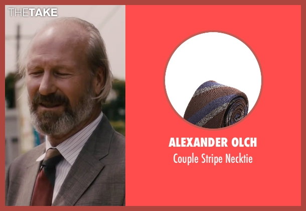 Alexander Olch red necktie from The Disappearance of Eleanor Rigby seen with William Hurt (Julian Rigby)