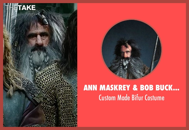 Ann Maskrey & Bob Buck (Costume Designer) costume from The Hobbit: The Battle of The Five Armies seen with William Kircher (Bifur)