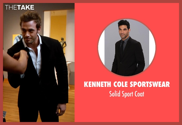 Kenneth Cole Sportswear black coat from Addicted seen with William Levy (Quentin Matthews)