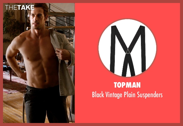 Topman black suspenders from Addicted seen with William Levy (Quentin Matthews)