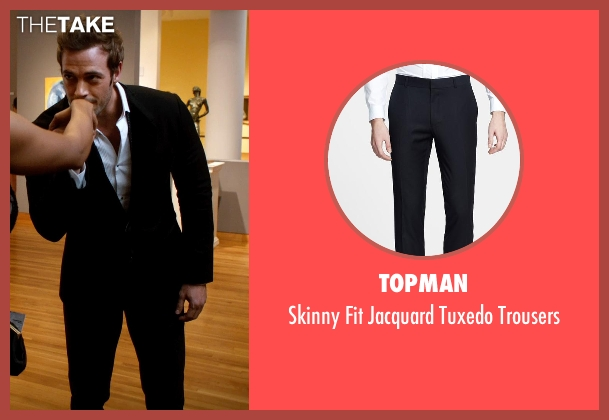Topman black trousers from Addicted seen with William Levy (Quentin Matthews)