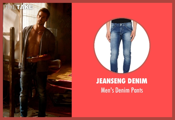 Jeanseng Denim blue pants from Addicted seen with William Levy (Quentin Matthews)