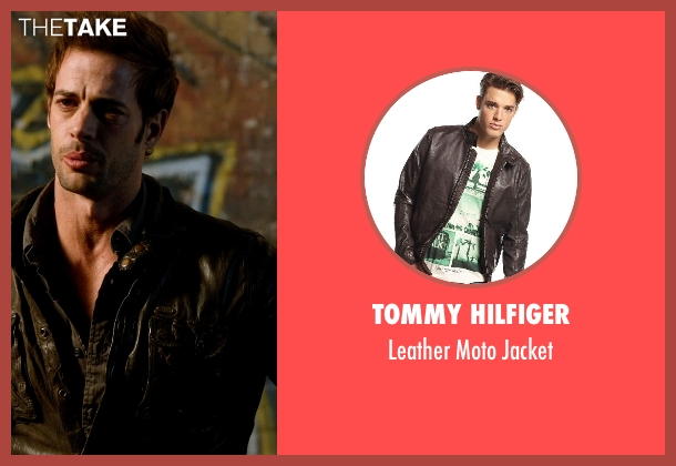 Tommy Hilfiger brown jacket from Addicted seen with William Levy (Quentin Matthews)