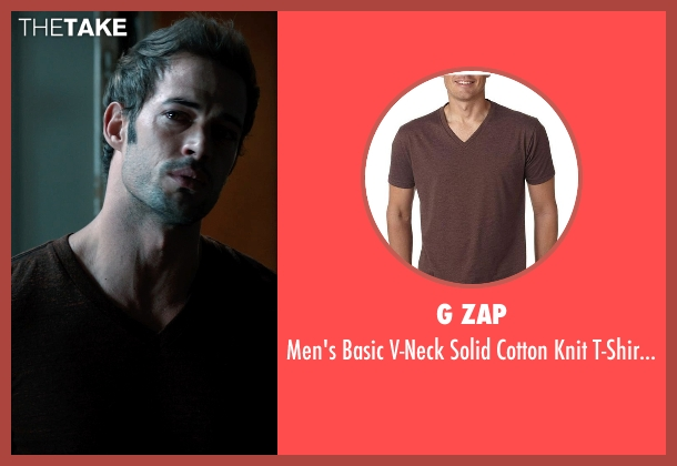 G Zap brown top from Addicted seen with William Levy (Quentin Matthews)