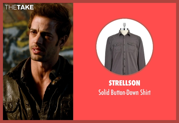 Strellson gray shirt from Addicted seen with William Levy (Quentin Matthews)