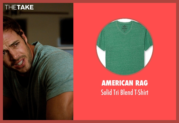 American Rag green t-shirt from Addicted seen with William Levy (Quentin Matthews)