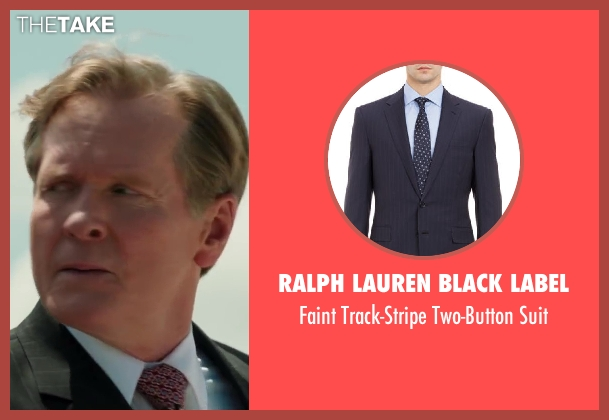 RALPH LAUREN BLACK LABEL black suit from Iron Man 3 seen with William Sadler (President Ellis)