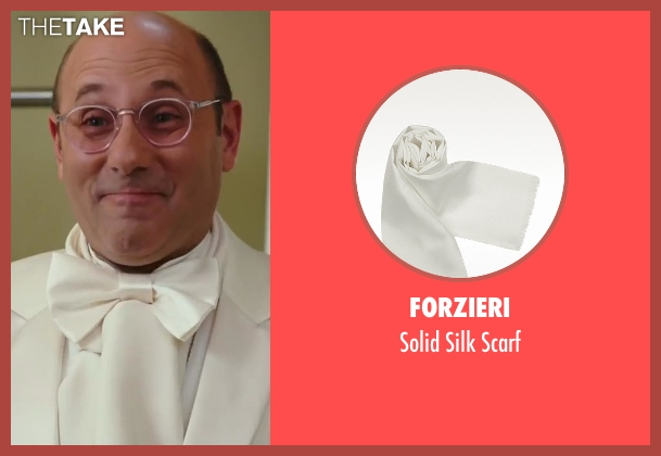 Forzieri white scarf from Sex and the City 2 seen with Willie Garson (Stanford Blatch )