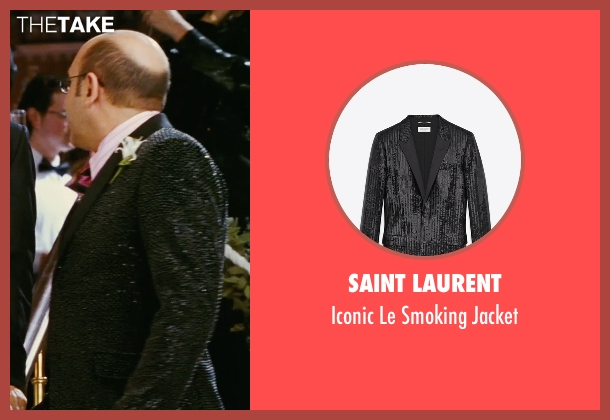 Saint Laurent black jacket from Sex and the City seen with Willie Garson (Stanford Blatch )