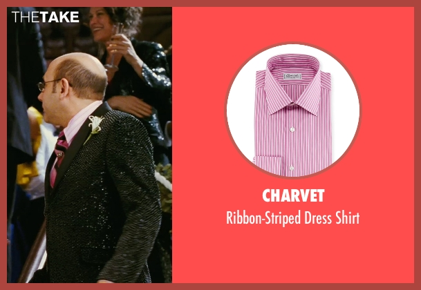 Charvet pink shirt from Sex and the City seen with Willie Garson (Stanford Blatch )