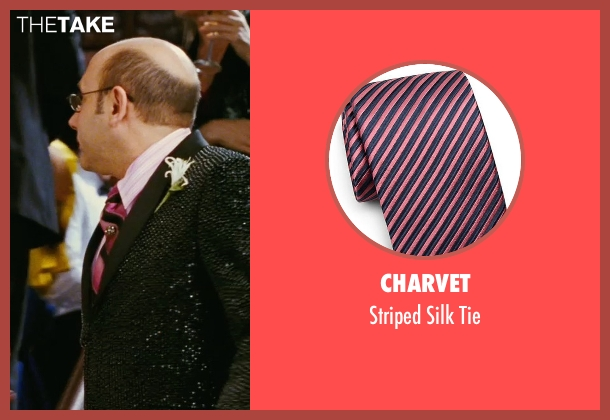 Charvet pink tie from Sex and the City seen with Willie Garson (Stanford Blatch )
