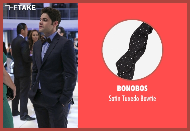 Bonobos black bowtie from Supergirl seen with Winn Schott  (Jeremy Jordan)