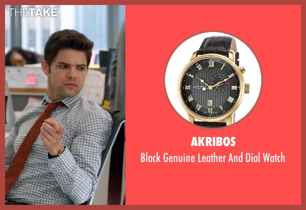 Akribos black watch from Supergirl seen with Winn Schott  (Jeremy Jordan)