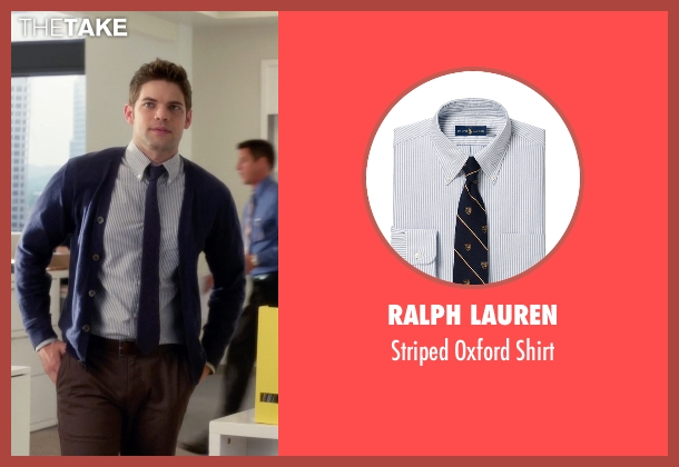 Ralph Lauren blue shirt from Supergirl seen with Winn Schott  (Jeremy Jordan)