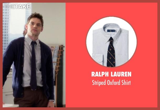 Ralph Lauren blue shirt from Supergirl seen with Winn Schott  (Jeremy Jordan)