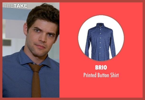 Brio blue shirt from Supergirl seen with Winn Schott  (Jeremy Jordan)