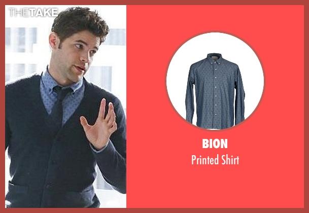 Bion blue shirt from Supergirl seen with Winn Schott  (Jeremy Jordan)