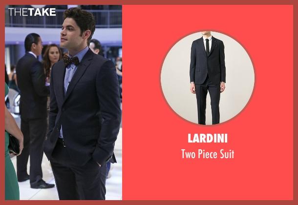 Lardini blue suit from Supergirl seen with Winn Schott  (Jeremy Jordan)