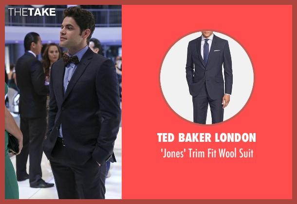 Ted Baker London blue suit from Supergirl seen with Winn Schott  (Jeremy Jordan)