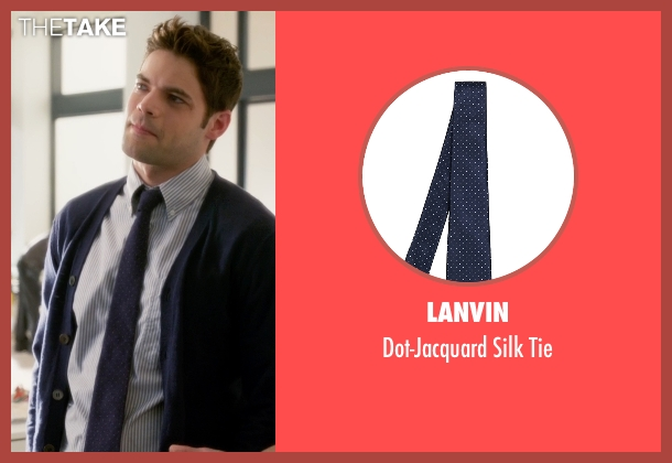 Lanvin blue tie from Supergirl seen with Winn Schott  (Jeremy Jordan)