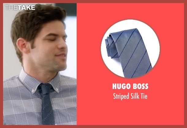 Hugo Boss blue tie from Supergirl seen with Winn Schott  (Jeremy Jordan)