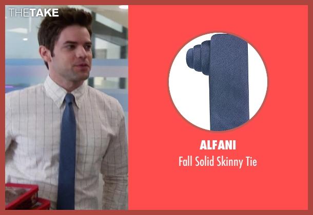 Alfani blue tie from Supergirl seen with Winn Schott  (Jeremy Jordan)