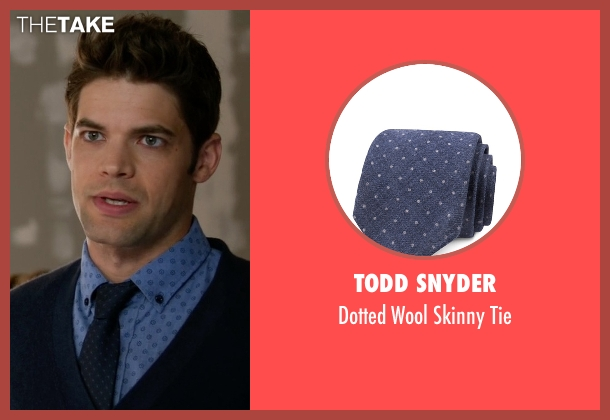 Todd Snyder blue tie from Supergirl seen with Winn Schott  (Jeremy Jordan)
